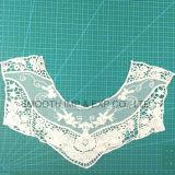 Tessile del collare del merletto del ricamo del tessuto di cotone degli accessori per il vestiario del filato di modo