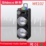Profesional de Shinco altavoz Bluetooth Carrito Karaoke con luz LED