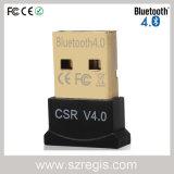 Dongle audio del adaptador del USB Bluetooth 4.0 del cobre plateado del CSR del ordenador