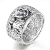 Wholesale Retro Silver Plating Round Hook Fashion Jewelry Finger Boxing ring