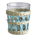 British estilo rural tazas de vidrio tejido de papel de color