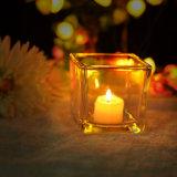 Imbarcazione di vetro della candela del quadrato di formato standard