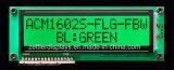 Zeichen LCD-Bildschirmanzeige-Baugruppe des FSTN Positiv-16 x 2 mit grüner LED-Hintergrundbeleuchtung: Acm1602s-Flg-Fbw