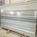 Laje/telha de madeira de cristal Polished naturais do mármore do revestimento da grão da venda quente
