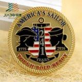 Монетки медальонов сувенира высокого качества 3D 999 серебряные в возможности (JIABO-1009)