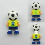 La coutume en PVC souple joueur de football la Coupe du Monde de la forme de lecteurs Flash Memory Stick™