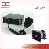elektronische Sirene des Polizeiwagen-100W mit Mikrofon (CJB-100A)