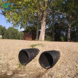 L'évacuation Double-Wall de soufflets de HDPE siffle le système de pipe de PE