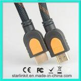 고속 HDMI 케이블 3D 4k 금에 의하여 도금되는 까만 오렌지