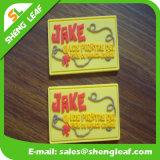 Etiqueta de borracha personalizada Washable da sapata do silicone do vestuário