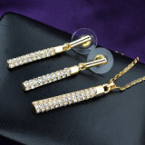 Conjunto pendiente de la joyería del collar de las mujeres del traje de la joyería de la alta calidad