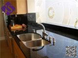 Encimera negra moderna del diseño del cuadrado del granito del cuarto de baño para el comedor