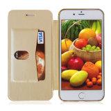 プラスiPhone 8のための電気めっきPUの革携帯電話の箱