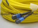 40g 12コアMPO-MPO Smエリートの挿入損失のファイバーの光学パッチ・コード