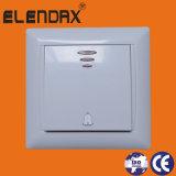 переключатель стены 1gang 1way с светом EU с 10A /Switches и типом гнезд (F6101)