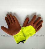 O látex revestido de protecção laboral luvas de segurança de trabalho industriais