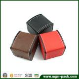 Design personalizado plástico costurados PU Caixa de relógio de couro
