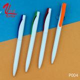 Crayon lecteur de bille en plastique bon marché de stylo bille de Clik des prix sur la vente
