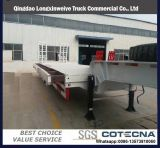 中国人3の車軸販売のための70トンの低いベッドの平面トレーラー