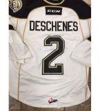 Настроить Qmjhl Charlottetown островов 2013-Pres Люк Deschenes будет Томпсон Спенсер Cobbold мужская женщин Детский Хоккей дешевые футболках Nikeid Goalit разрез