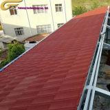 Matériau de construction en pierre de toit en acier recouvert de bardeaux d'asphalte de tuiles de toiture