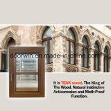 여닫이 창 티크 목제 입히는 알루미늄 Windows