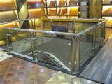 Золотистые поручни лестницы акрилового стекла подлокотника