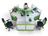 Poste de travail rond de Frameless de bureau de portées en verre modernes du principal 4 (SZ-WS244A)