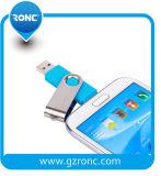 로고 64GB OTG USB 저속한 펜 드라이브를 주문을 받아서 만드십시오