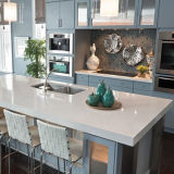 Reiner weißer künstlicher Granit-Stein-KücheCountertop