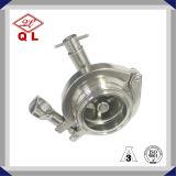 非DIN 316のステンレス鋼のリターンによって溶接される衛生小切手弁