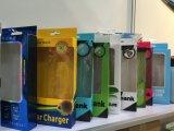 Caja de embalaje plástica de color PP / Pet de encargo personalizado de la fábrica para la caja del teléfono con la percha