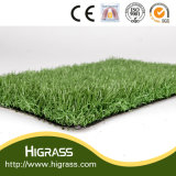 人工的な草の水のない芝生との景色