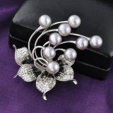 تقليد مجوهرات لؤلؤة [رهينستون] بلّوريّة زهرة دبوس الزينة بالجملة