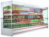 Refrigerador de exposição aberto comercial para vegetais e frutas