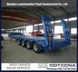3개의 차축 판매를 위한 낮은 침대 트레일러 70 톤 거위 목 모양의 관