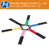 Gancho de leva y bucle mágicos ajustables modificados para requisitos particulares de las ataduras de cables de la cinta