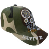 3Dロゴの熱い販売のCamoの野球帽13613