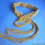 Hand-Woven Tassel валика цепи ремня женские платья талии этнических вкусом