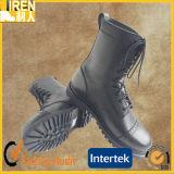 黒い一等級の本物牛革安い軍隊のブートの軍の戦闘用ブーツ