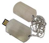 Movimentação do flash do USB do Tag de cão da alta qualidade com impressão feita sob encomenda