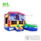 Kühles modernes Heiß-Verkaufendes aufblasbares Springen kombiniert mit Plättchen und Hindernis für die Kinder, die springenden Sport erregen