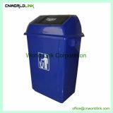 Forma de moda el reciclaje de plástico de 58 L Hotel Bin para limpieza