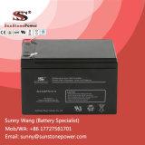 12V 12ahの深いサイクルAGMの電池によって密封される手入れ不要の機密保護電池