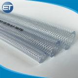 PVCプラスチック透過明確な水ホースのファイバーの編みこみの油圧庭の管のホース