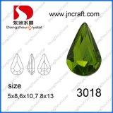 Teardrop-Kristallglas-Raupen für Kleid-Zubehör (DZ3018)
