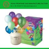 気球が付いているヘリウムのガスタンク