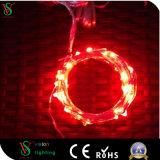 fil flexible d'argent de lumière de chaîne de caractères de câblage cuivre de 10m/100 DEL mini