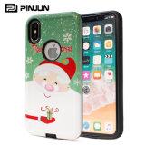 Caisse de téléphone personnalisée par ODM d'OEM de cadeau de Noël pour l'iPhone X/8/8plus/7/7plus