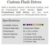 Top Sell Custom Promotional USB Flash Drive Imprint Logo (ALP-001U)